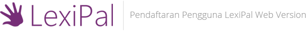 Pendaftaran User Baru: LexiPal Web Version